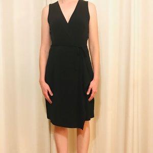 New Black Wrap Cocktail Dress, S